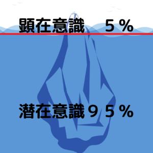 顕在意識5%と潜在意識95%